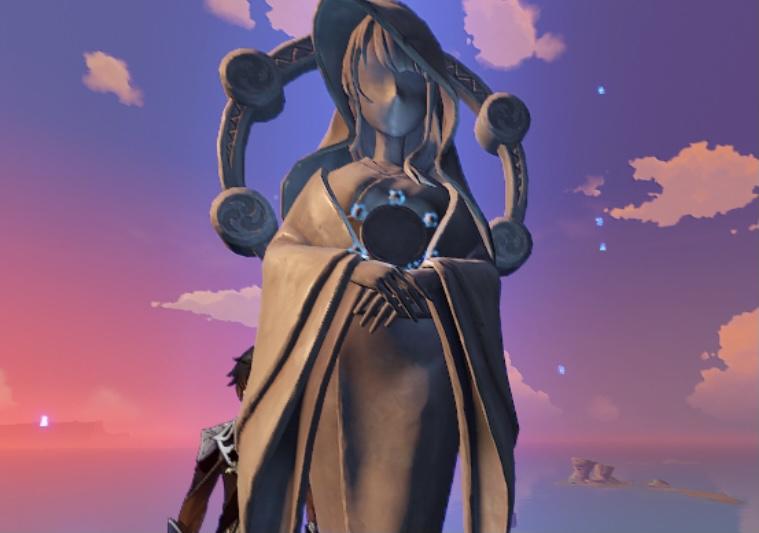 【原神まとめ】稲妻の七天神像の顔はまんま雷電将軍だな 違うのは千手百目神像